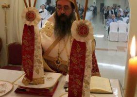 Ὁ Σεβ. Ἀρχιεπίσκοπος Καττάρων εἰς τήν Χριστουγεννιάτικην θείαν Λειτουργίαν.