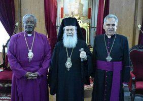 Ὁ Μακαριώτατος & οἱ Ἀγγλικανοί Ἀρχιεπίσκοποι Σεβ. Curry & Dawani